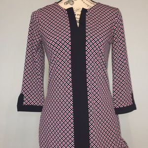 Ann Taylor petite blue and pink dress